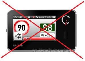 avertisseur de radar interdit